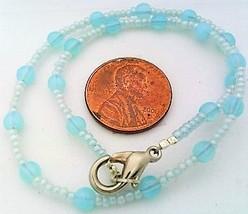Aqua Opal Glass Bracelet - $12.03