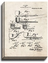 Pipe Patent Print Old Look on Canvas - $39.95+