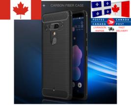 Étui Fibre De Carbone Deluxe / Carbon Fiber Cover Case HTC U11 Life U12+ - $12.39+
