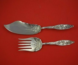 Lily of the Valley by Whiting Sterling Silver Fish Serving Set 2pc Orig ... - $1,009.00