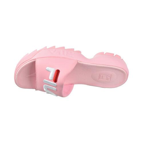 Fila Disruptor Bold Women's Slides Pink-White-Red 5SM00079-662 - $44.95