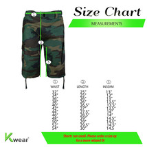 Men's Tactical Military Army Camo Camouflage Slim Fit Cargo Shorts With Belt image 2