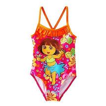 Dora The Explorer & Stivali UPF-50 1-Piece Nuoto Costume da Bagno Nuova con - $10.05