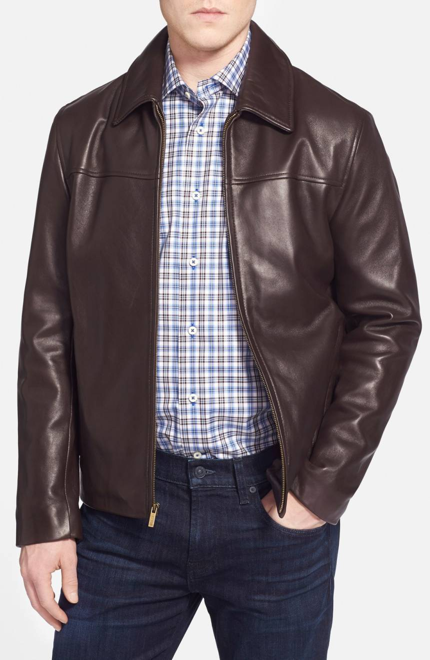 New Men's Genuine Lambskin Leather Jacket  Slim fit Biker Motorcycle jacket-G38