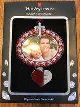 "Swarovski Crystal Holiday Photo Frame Ornament ""Our First Christmas"" Shi... - $55.27"