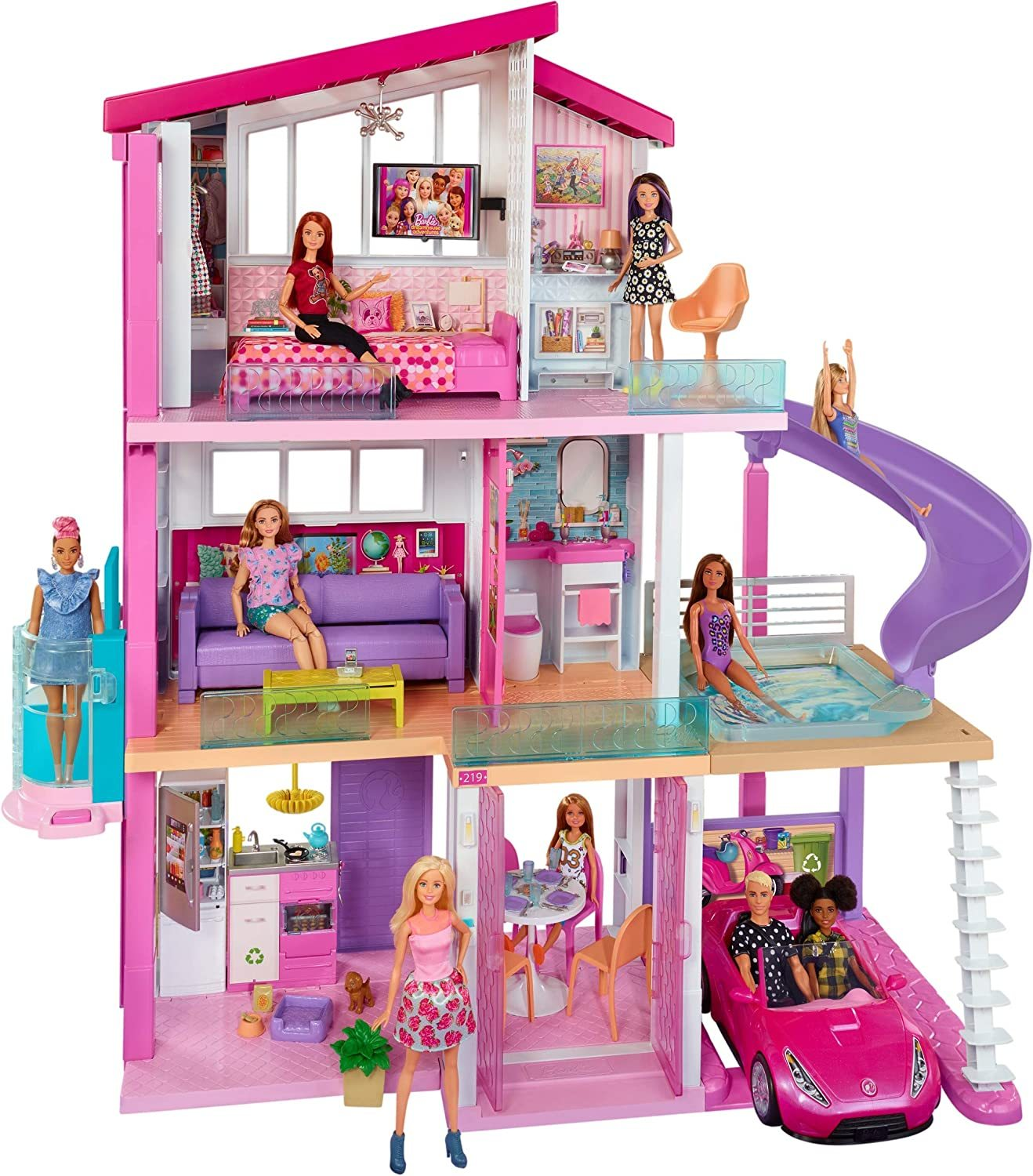 Primary image for Barbie Dreamhouse Dollhouse with Wheelchair Accessible Elevator, Pool, Slide