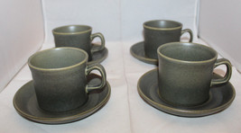 Wedgwood Greenwood Coffee Tea Mug Cup Saucer Set of 4 Vintage Made in En... - $56.90