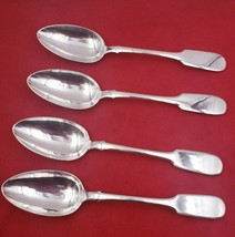 4 Vintage Russian Sterling Silver Dinner Spoons #6570 - $325.00