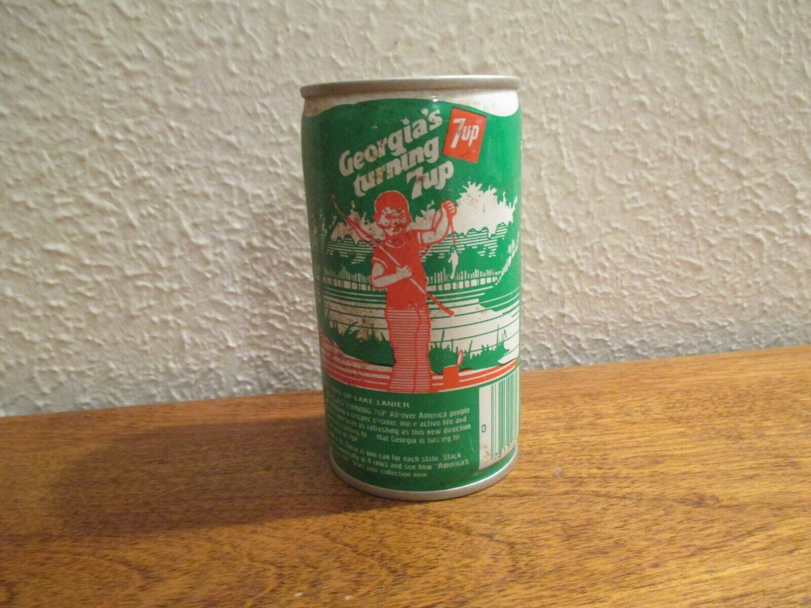 Primary image for Georgia Turning 7up vintage pop soda metal can Lake Lanier fishing