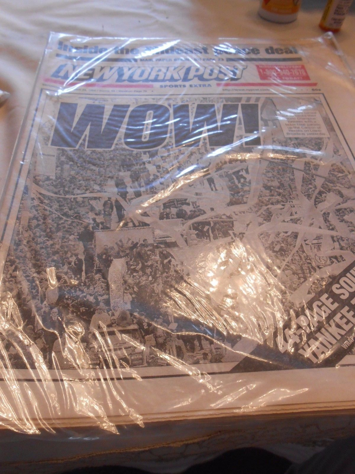 Collectible NY POST Newspaper Oct.24,1998 WOW 44 Page Souvenir YANKEE Tribute - $24.34