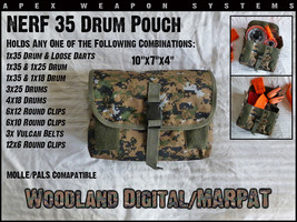 Custom NERF Tactical Gear - 35 Drum Pouch - Clip Holder/Dart Pouch - MARPAT - $9.99