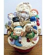 """Resin Santa Claus Figurine with an Armful of Toys 5.50"""" Tall - $5.93"""