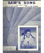 Sheet Music Sam's Song 1950 Judy Canova Cover Guitar Vintage Music Free ... - $9.95