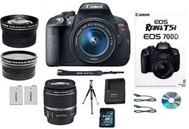 SALE SALE! Canon EOS Rebel T5i DSLR Camera 700D Lens Kit & 18-55mm Lens ... - $694.40