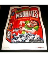 """2012 Wacky Packages Series 1 """"WEIGHTIES CEREAL"""" #21 Poster - $2.49"""