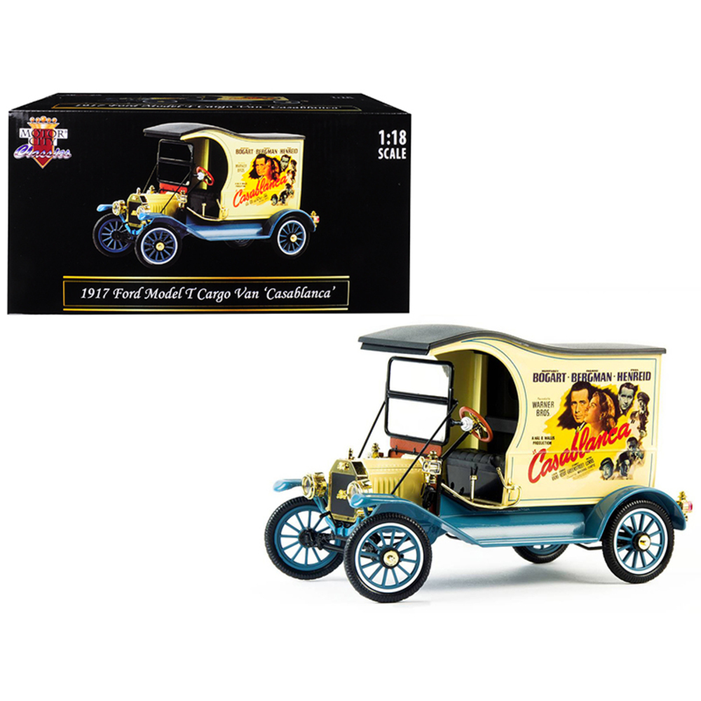 1917 Ford Model T Cargo Van Casablanca (1942) Movie 1/18 Diecast Model Car by Mo