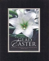 Glad Easter - Matthew 28:6-7. . . 8 x 10 Inches Biblical/Religious Verse... - $11.14