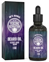 Beard Oil Conditioner - All Natural Clary Sage Scent with Organic Argan & Jojoba image 6