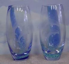 "Lenox~Undersea Paradise~Pr 8"" Handcrafted Artglass Vases~Scotland~Dolphi... - $46.74"
