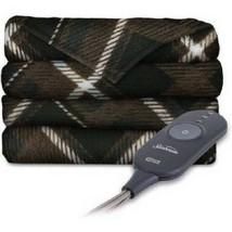 Electric Throw Blanket Heated Fleece Winter Heat Warm Three Heat Setting... - $71.66 CAD