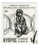 (I.B) Cyprus Cinderella : Refugee Fund 1c (1984) - $113,38 MXN