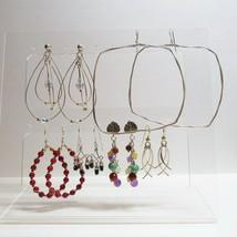 Vintage 6 Pair Lot Dangles Hoops 925 STERLING SILVER Pierced Earrings 22... - $39.60
