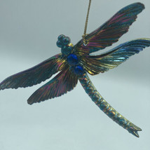"""Dragonfly Iridescent Peacock Inspired Insect Ornament Kurt Adler 4.4"""" New  - $14.01"""