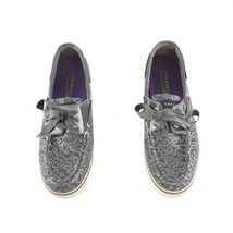 Sperry Top Sider Charcoal Gray Sequin Boat Shoes Slip On Loafers Shoes W... - $29.54