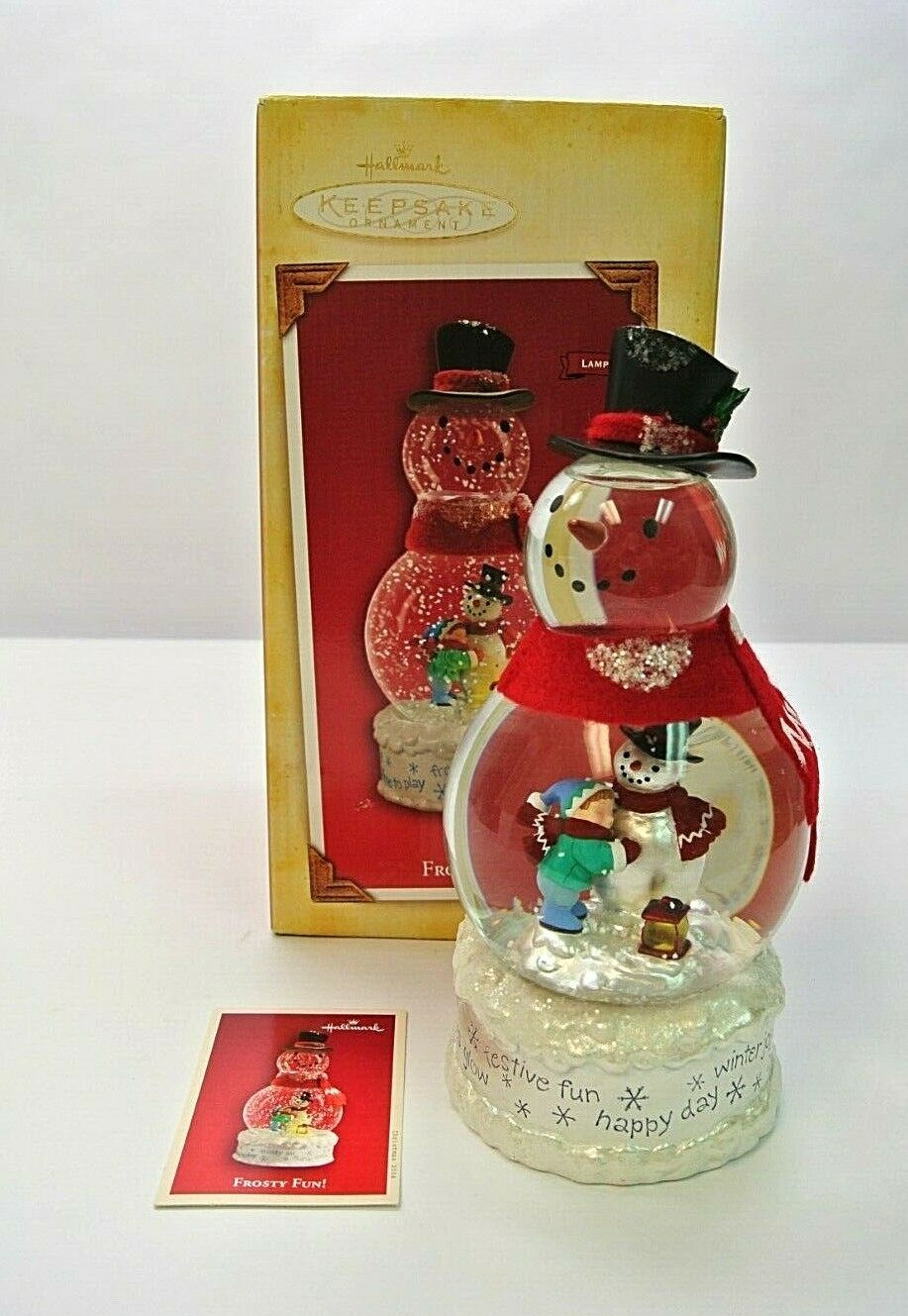 Primary image for 2004 Hallmark Keepsake Ornament Frosty Fun Light up Snow Globe