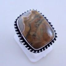 Ring Size 8 Poppy Jasper Silver Overlay Handmade Ring Jewelry 9 Gr. Oj-3... - $2.49