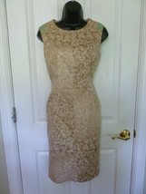 Anne Klein Womens Dress Lined, Beige, Tan, Size 6,  Animal Print, - $15.40