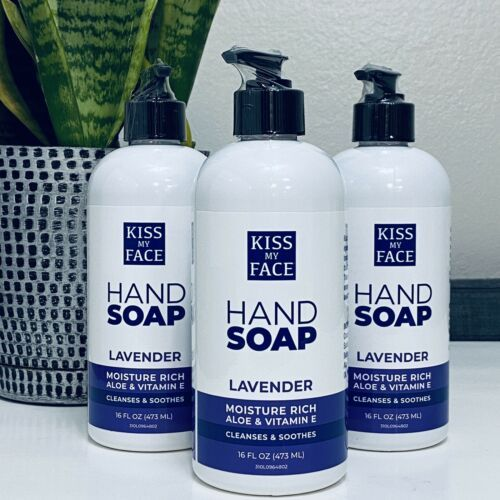 Kiss My Face Lavender Moisture Cleanse Hand Soap Aloe Vitamin E 16 Oz Lot Of 3 - $32.66