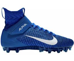 Nike Alpha Menace Elite 2 Flyknit Football Blue Cleats Mens Size 9 AO337... - $108.89