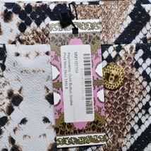 Boohoo Asymmetric Gold Tone Faux Button Snake Print Mini Skirt Size UK 8   US 4 image 3