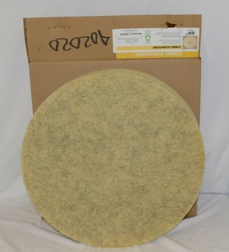 Tri Lateral Sales 402020 Combo Burnishing Floor Maintenance Pads 20 Inch 5 Pack