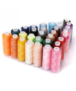 Sewing Thread Machine Embroidery 30pcs Polyester Colorful 250 Yard Craft... - $12.10
