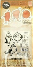 "Sizzix Tim Holtz Alterations ""Bird Talk"" Stamp and Coordinating Dies Set... - $13.45"