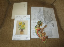 """1975 Heirlooms Today FLOWERS IN PITCHER Counted Cross Stitch KIT - 12"""" x... - $7.92"""