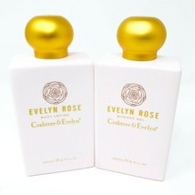 Crabtree & Evelyn Set of 2 Evelyn Rose Shower Gel and Body Lotion 8.5 fl... - $59.36