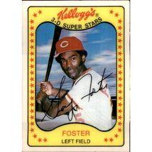 Vintage Mlb 1981 Kellogg's #1 George Foster Cincinnati Reds Vintage (Ex-mt) - $1.50