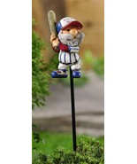 """Set of 2 Adorable Baseball Gnome Plant Garden Pics - 17.1""""  Hat Reads Gn... - $29.69"""