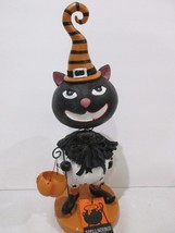 "Spellbound Halloween Primitive Vintage Black Cat Clown Resin Prop Decor 12"" - £20.14 GBP"