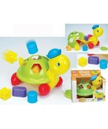 Shape Sorting Fun Pull Along Turtle Educational Baby Toy By Funtime- Discounted - $8.99