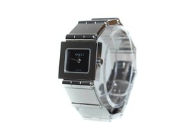 Auth GUCCI 600L Black Dial Stainless Steel Band Women's Watch GW9616L - $290.59 CAD