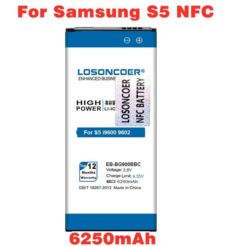 6250mAh EB-BG900BBC NFC for Samsung Galaxy S5 NFC Battery I9600 G9006 G9008 I960 - $18.60