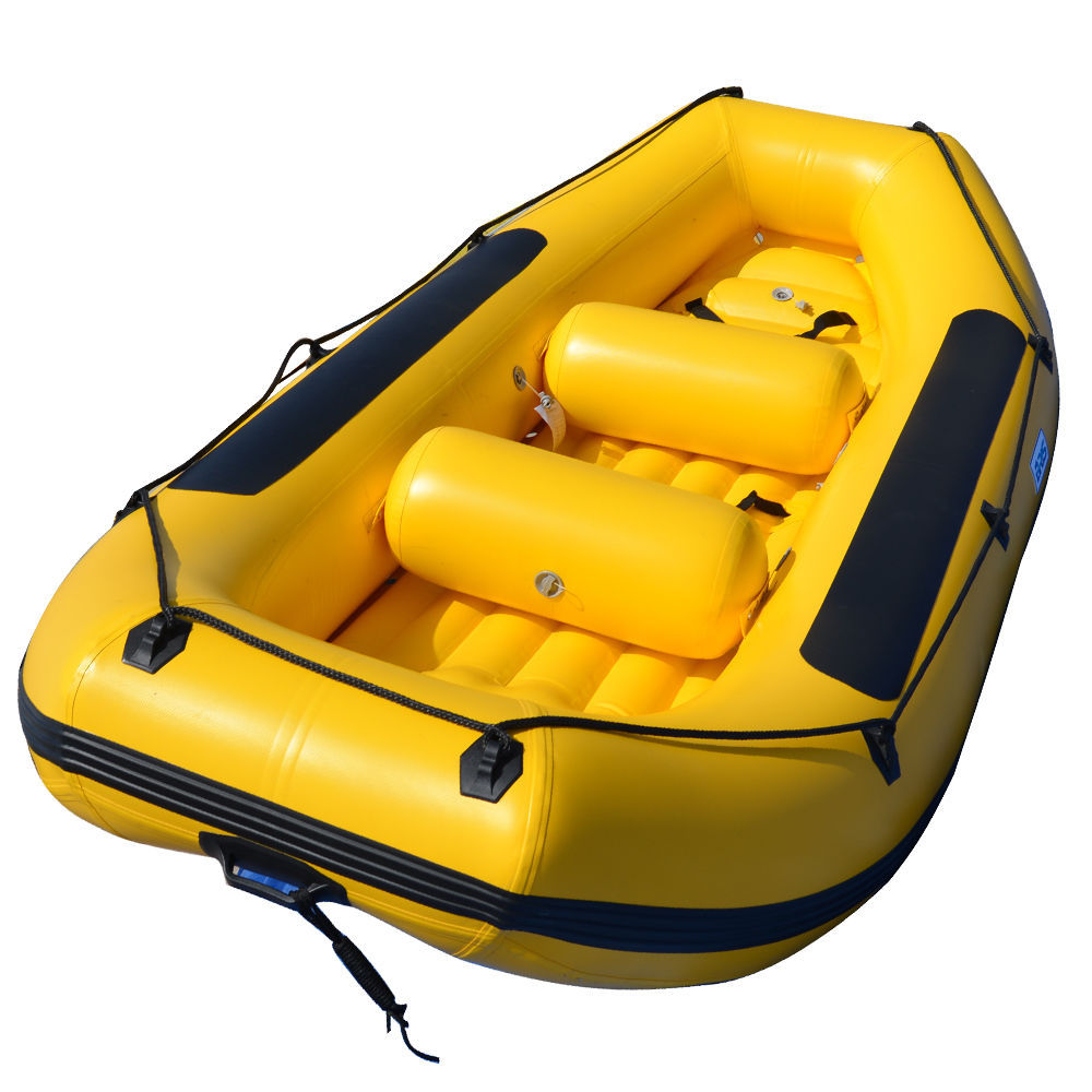 BRIS 12 ft Inflatable Boat White Water River Raft  Inflatable River Lake Dinghy