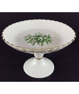 "LENOX China Holiday Dimension Round Compote Pedestal 5"" x 7-1/4"" Dinnerware - $24.74"