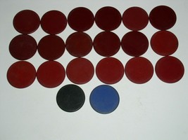 Vintage Poker Chip Lot Of 20 Early 1900's Clay or Clay Composite Bakelite? - $14.99