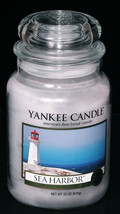 Yankee Candle Sea Harbor Classic Large Jar 22 oz Fresh  Retired Disconti... - £21.33 GBP