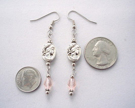 Victorian Inspired Cameo Drop Earrings Pink image 3